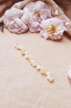 Bracelet inox mariage fait main - Perles blanches et ivoires. Calino Crea